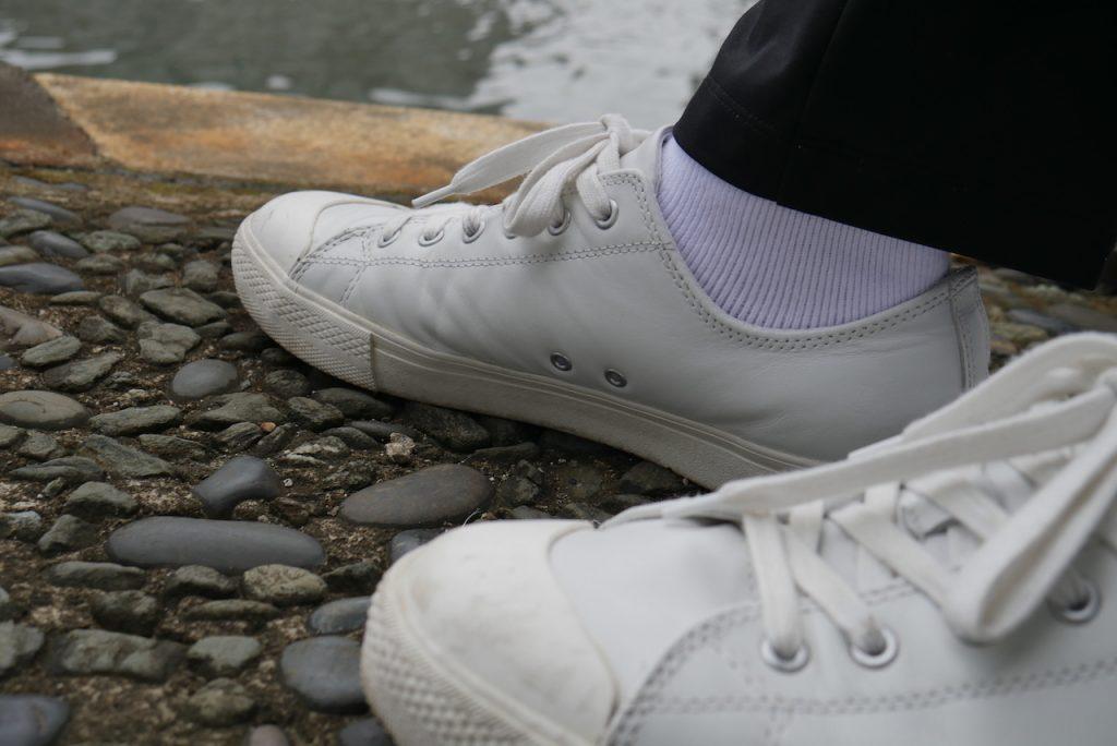 白ソックス系男子のおすすめする「VANS」のソックスはハーパンシーズンのアクセントになるよ!|白靴下ギャラリー