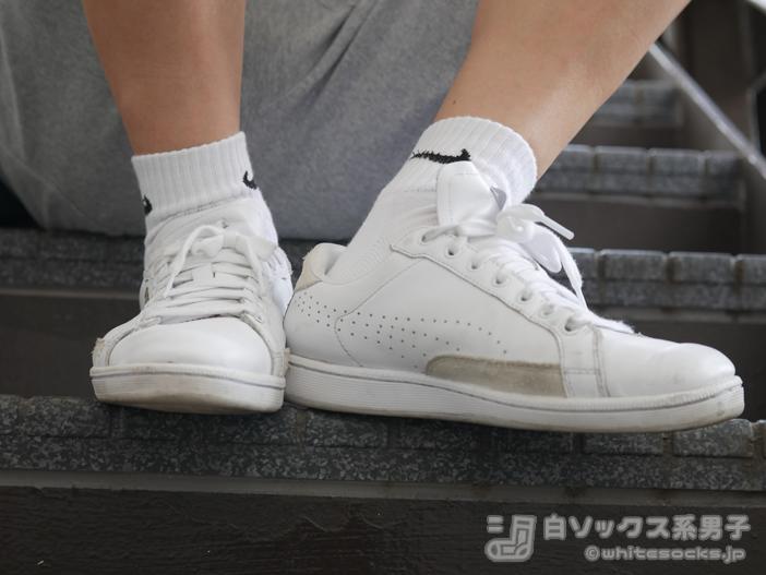 ミニマリスト的なファッションのワンポイント【NIKE】ショートソックス
