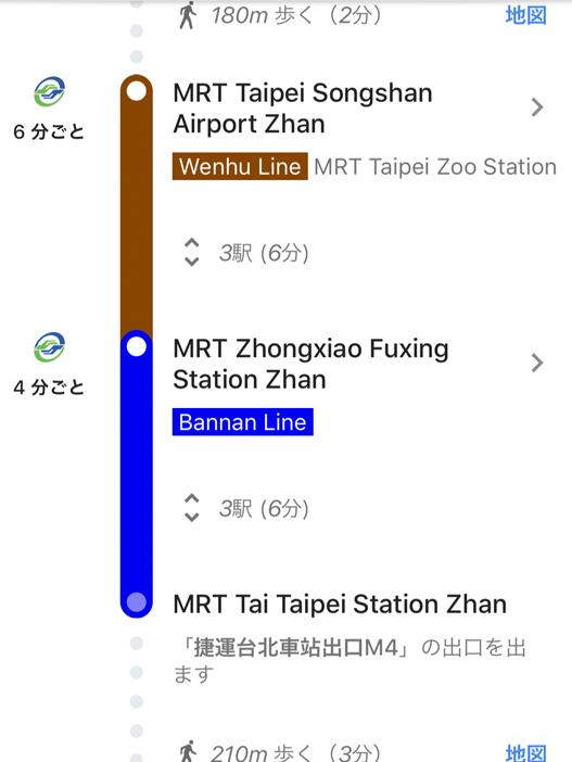 台北松山空港から台南までの行き方