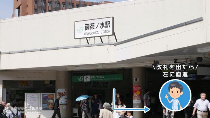 御茶ノ水駅からナナイロ脱毛部までのアクセス
